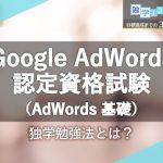 Google AdWords 認定資格試験(AdWords 基礎)に合格するための独学勉強法